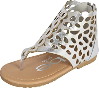 d86abf2010e bebe Girls Gladiator Thong Sandal (Toddler Little Kid Big Kid)