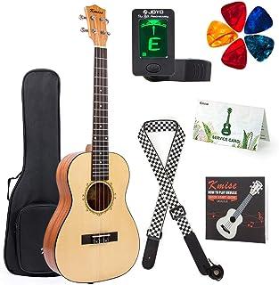 Baritone Ukulele 30 Inch Ukelele Uke 4 String Guitar With Ukele Picks Strap Tuner G-C-E-A String (Spruce Top Mahogany Back...