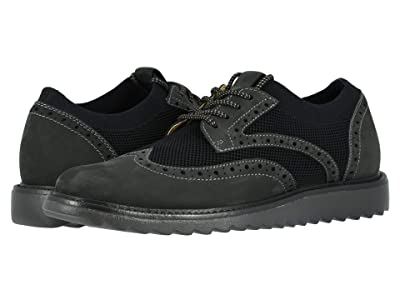 Dockers Hawking Knit/Leather Smart Series Dress Casual Wingtip Oxford with NeverWet (Black Knit/Nubuck 2) Men