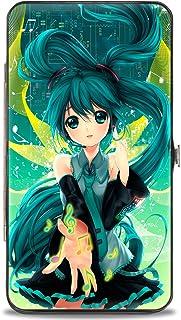 "Buckle-Down Buckle-Down Hinge Wallet - Hatsune Miku Accessory, Hatsune Miku, 7"" x 4"""