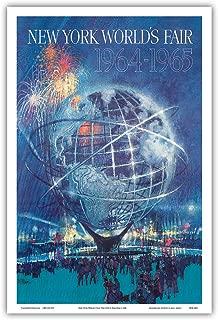 New York World's Fair 1964-1965 - Unisphere Earth Model - Vintage World Travel Poster by Bob Peak c.1964 - Master Art Print - 12in x 18in