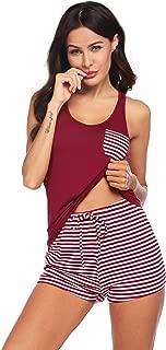 Hotouch Womens Pajamas Short Sets V-Neck Racerback Tank and Shorts Sleepwear Pj Sets