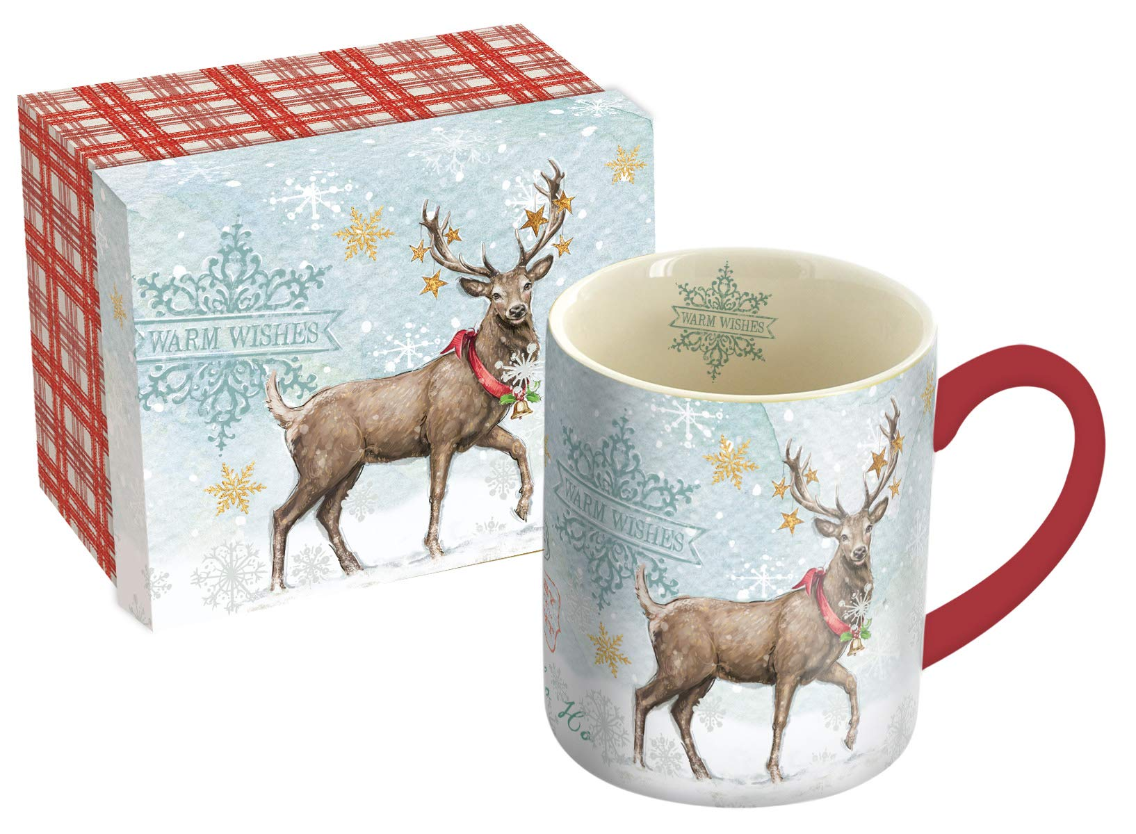Image of Reindeer Coffee Mug with Matching Gift Box