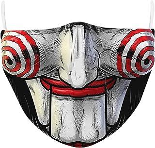 AIEOE vestire costume cosplay halloween testa di teschio pagliaccio adulto bocca naso cotone lavabile riutilizzabile uomo donna