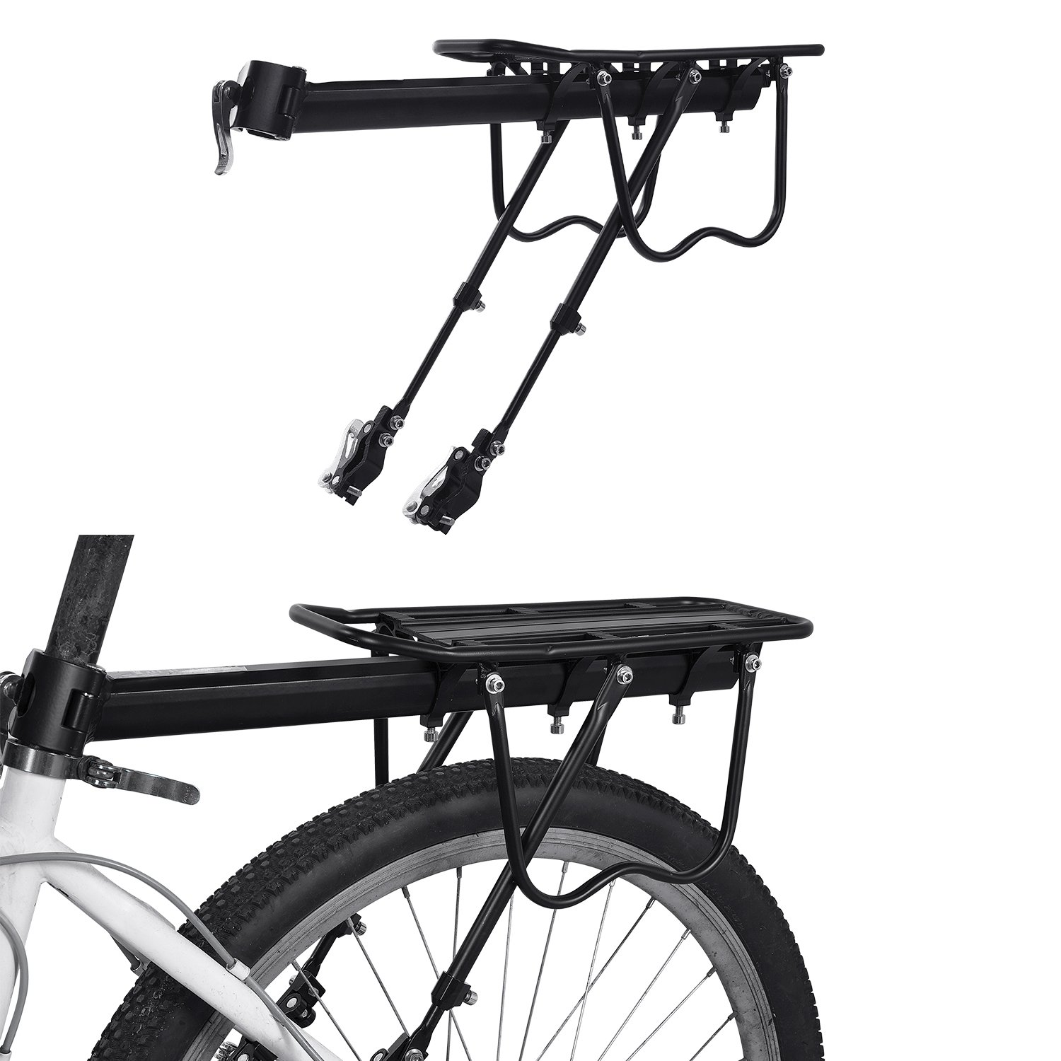 Bicicleta portaequipajes, weyty Ajustable Carrier Trasera para ...
