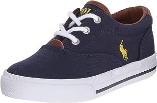 Polo Ralph Lauren Kids Vaughn Ii Sneaker , Navy/Yellow, 5 M US Big Kid