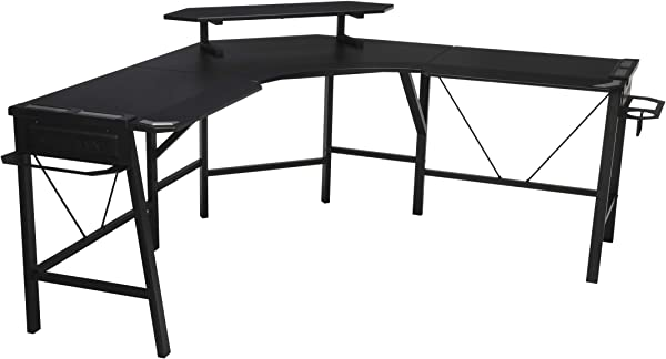 RESPAWN 2010 Gaming Computer Desk L Shaped Desk In Gray RSP 2010 GRY