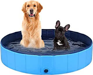 PetSol Foldable Dog Paddling Pool - Large Portable Swimming Pools for Dogs, Puppy, Pets & Outdoor Garden Water Family Fun....