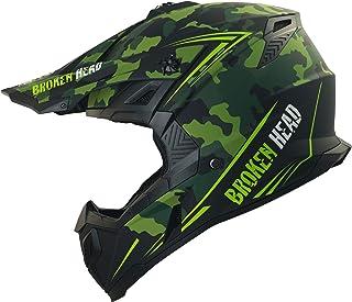 Broken Head Squadron Rebelution - Motorrad-Helm Für MX, Motocross, Sumo - Der Szene Marken-Helm - Camouflage - Größe M 57-58 cm