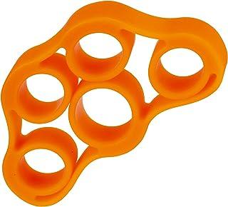 Extensor Elástico para Fortalecimento dos Dedos, 3 kg/6.6Lb, Laranja, LiveUp Sports, 7898495112383