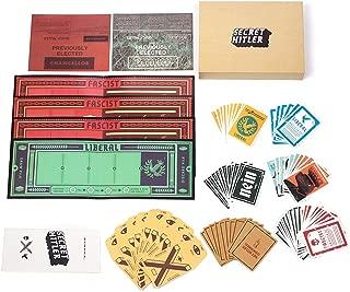 Cenblue Juego de cartas secreto de la mesa de juegos de Hitler: un juego de cartas ocultas de identidad para la fiesta familiar