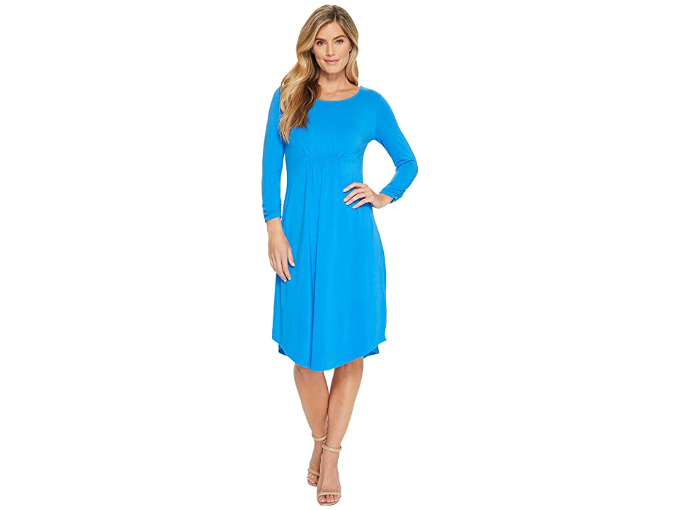 Mod-o-doc Cotton Modal Spandex Jersey Cinch Waist Dress (Yacht) Women
