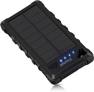 comprar comparacion Xnuoyo Cargador Solar Portátil 20000mAh Impermeable Batería LED de luz de Emergencia para Panel Solar Alta Conversión Bate...