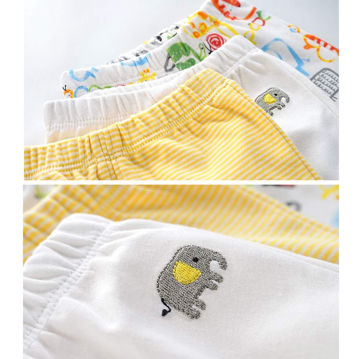 3er Pack Baby Strampelhose Babyhose mit Fu/ß Leggings f/ür Baby-Jungen Baumwolle Hosen 6-12 Monate