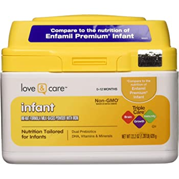 Love & Care Infant Milk-Based Powder Infant Formula with Iron, 22.2 Ounce