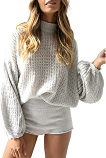 Simplee Women's Casual Long Sleeve Loose Pullover Knit...