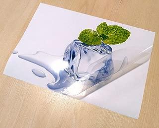 10 A4 Sticker Sheets Semi Transparent Low Opacity/Translucent Waterproof Vinyl (PVC) Glossy Self Adhesive Sticker Quality Inkjet Printable
