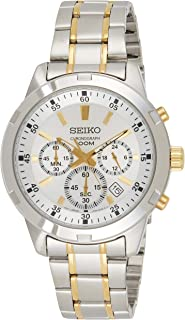 Seiko Womens Quartz Watch, Chronograph Display and Stainless Steel Strap SKS607P1