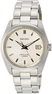 Men's Japanese-Automatic Watch with Stainless-Steel Strap, Silver, 20 (Model: SARB035)