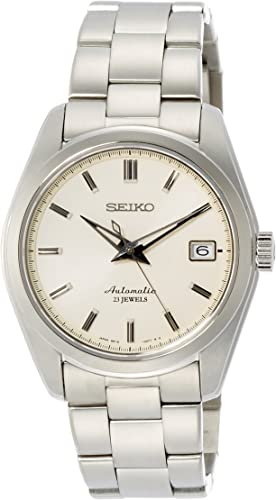 Amazon.com: Seiko Men's Stainless Steel Japanese-Automatic Watch with  Stainless-Steel Strap, Silver, 20 (Model: SARB035) : Clothing, Shoes &  Jewelry