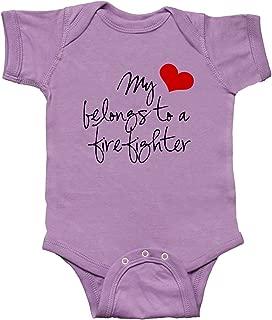 My Heart Belongs Firefighter Infant Creeper
