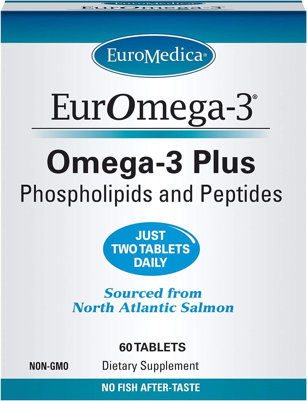 Rare Super beauty product restock quality top! EuroMedica EurOmega-3-60 Tablets - Potent Acids Fatty + Omega-3