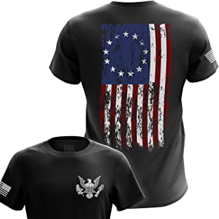 U.S Flag Patriotic Military Army Mens T-Shirt Printed & Packaged in The USA