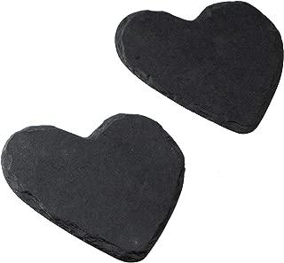 Heart Shaped Slate Coasters - Set of 2