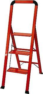 Ascent ADS3-001-RD Series Aluminum 3 Designer Step Stool, Red