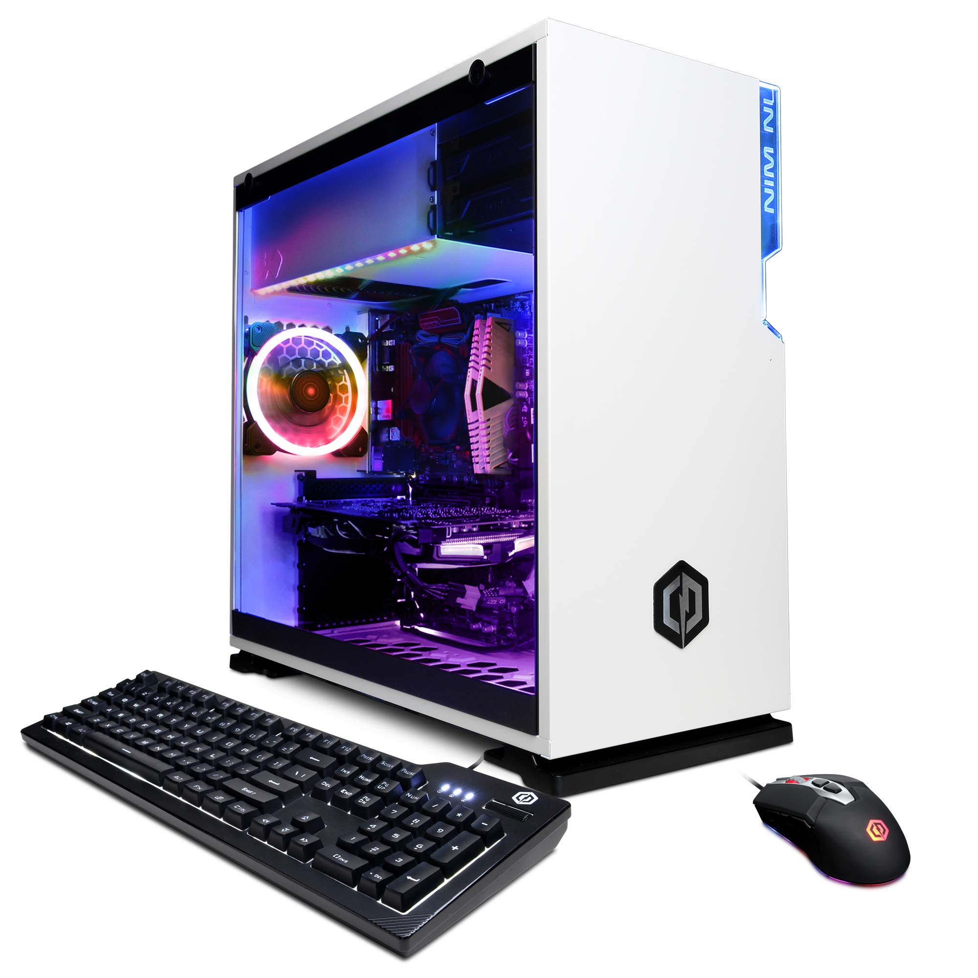 CyberpowerPC Gamer Xtreme Gaming PC, Intel Core i5-9600KF 3.7GHz, AMD Radeon RX 5500 XT 4GB, 16GB DDR4, 500GB PCI-E NVMe SSD, WiFi Ready & Win 10 Home (GXi11420CPG, White)