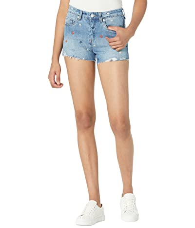 Blank NYC Star Embroidery The Barrow High-Rise Shorts in Born In The USA