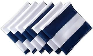 DII Nautical Blue Cabana Stripe Print Outdoor Napkins (Set of 6), 6 Piece