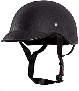 SARTE SBA-1 All Purpose Safety Helmet/Half Helmet with Strap for Bikes (Black, Free Size)
