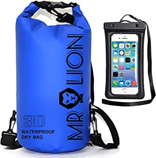 MR LION Waterproof Dry Bag - Roll Top Dry Compression Sack Keeps Gear Dry for Kayaking, Beach, Rafting, Boating, Hiking, Camping, Swimming, Floating and Fishing with Waterproof Phone Case