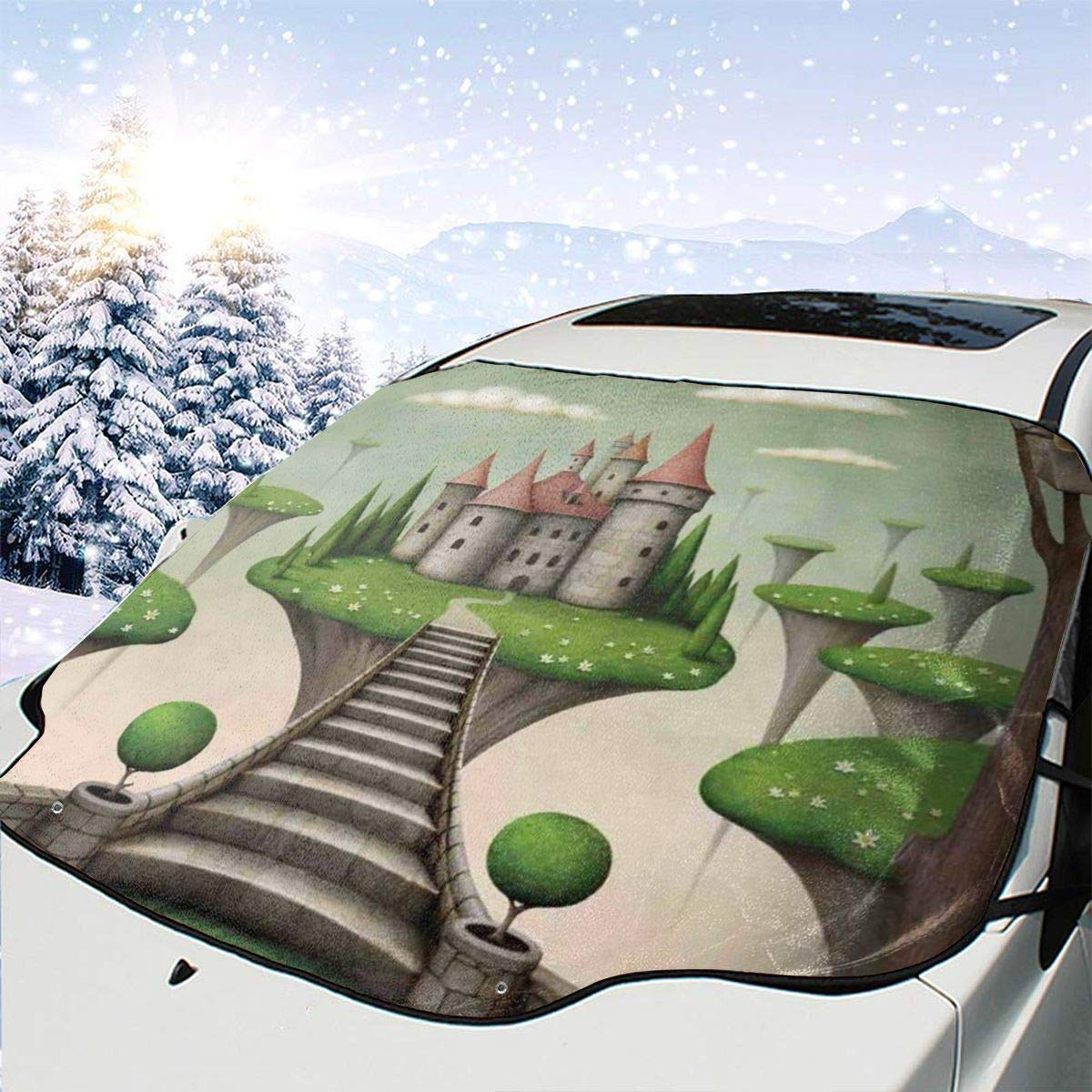 Car Front Window Windshield Snow Cover M On Finally popular brand Max 60% OFF Castle Boho Hanging