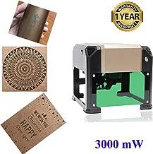 Laser Engraver Machine, Laser Engraving Machine 3000mW Mini Desktop Laser Engraver Machine DIY Logo Laser Engraver Printer 76x76mm (3000mW)