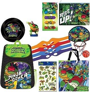 Rise of The Teenage Mutant Ninja Turtles Showbag with Backpack Stamper Sticker -- Kids Show Bag Birthday Christmas