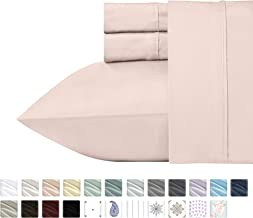 California Design Den 400 Thread Count 100% Cotton Sheet Set, Blush Full Sheets 4 Piece Set, Long-Staple Combed Pure Natural Cotton Bedsheets, Soft & Silky Sateen Weave