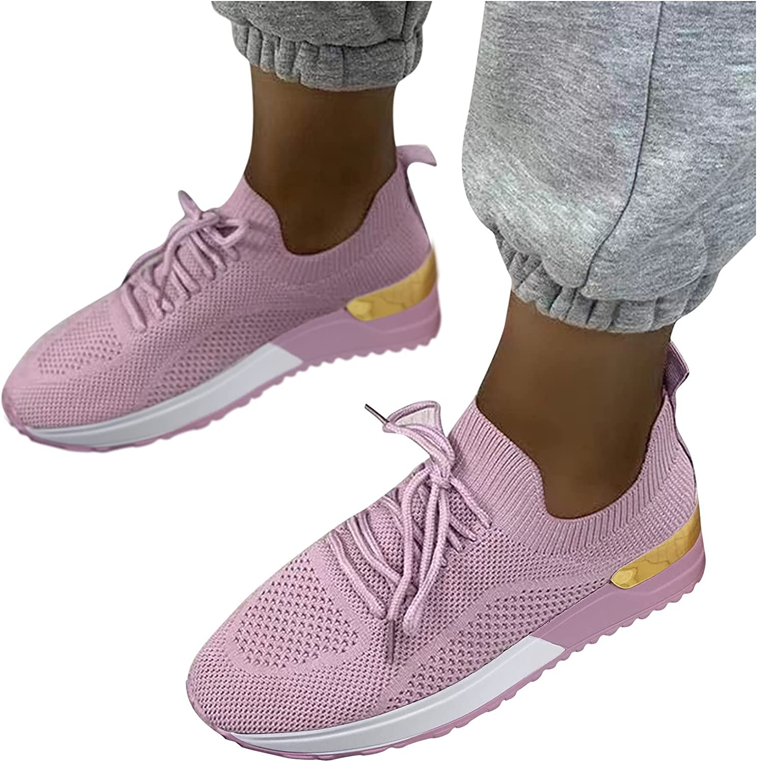 NIMIZIA Walking Shoes for Women,Women Breathable Mesh Comfortable Shoes Slip On Casual Sport Shoes Runnig Shoes Office Loafer