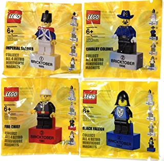 Lego Bricktober 2010 Minifigures Complete Set of 4 Imperial Soldier Cavalry Colonel Fire Chief Black Falcon