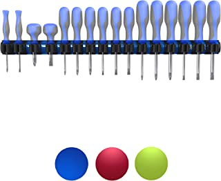 Olsa Tools Magnetic Screwdriver Organizer | Premium Quality Magnetic Tool Holder | Fits up to 16 Screwdrivers | Blue