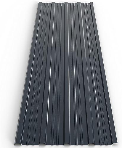 12 tôles profilées/ondulées 129cm x 45cm = 7m² mur toit abri de jardin