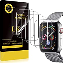 LK 6 Pack Screen Protector Compatible with Apple Watch 44mm Series 6 SE Series 5 Series 4, Model NO.KO4721 Japanese Material, Bubble-free, Flexible TPU Film