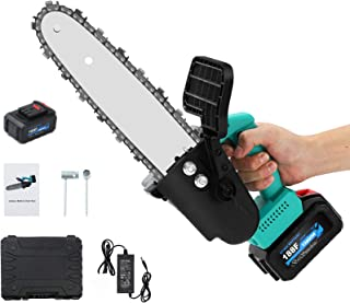 10-inch Handheld Chainsaw with 2 Batteries, APROTII 21V 700W Cordless Electric One-Handed Portable Chainsaw Pruning Shears...