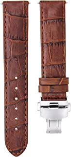 20MM LEATHER WATCH STRAP BAND FOR 40MM ROLEX SUBMARINER GMT MASTER II L/BROWN