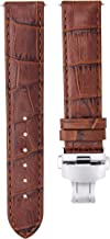 20MM LEATHER WATCH STRAP BAND FOR TISSOT T-RACE NICKY HAYDEN LIMITED L/BROWN