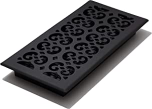 Decor Grates STH614 Scroll Text Floor Register, 6-Inch by 14-Inch, Black
