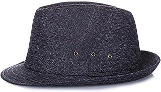 LONGren Sun Hats, Middle-Aged Men's Summer Travel Vacation Sun Hats, Breathable Etiquette Caps (Color : Black, Size : 59cm)