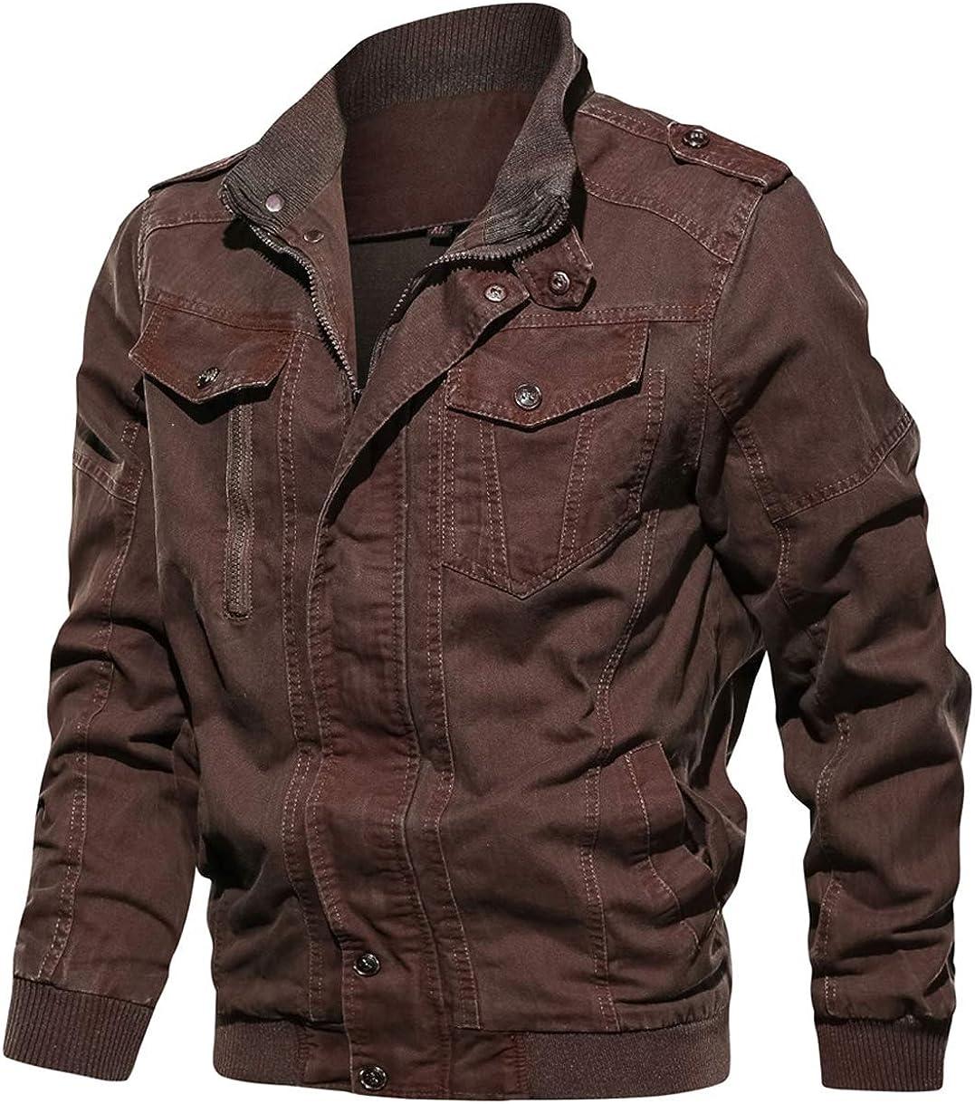 chouyatou 新作 Men's Casual Long 捧呈 Sleeve Zip Distressed Tie-Dyed Full