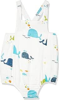 Petit Bamboo Muslin Unisex Onesie, Blue-Whale, 18-Months